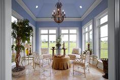 Sunroom. Creighton Custom Homes. Lighting Amanda Leonard.