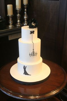Chandelier Engagement Cake by Christin's Cakes, via Flickr