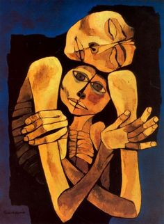 fyeahecuador:  chimneyfish:  Ternura, 1989 Oswaldo Guayasamin  The 6th of July of 1919, Oswaldo Guayasamín was born in Ecuador. He will become the most renowned Ecuadorian painter.  He was outspoken about this indigenous origins and vocal about the problems of poverty and discrimination in Latin America. Influenced by expressionism, Mexican muralist, Precolumbian and Colonial Latin American Art, Guayasamín became very famous during his life.