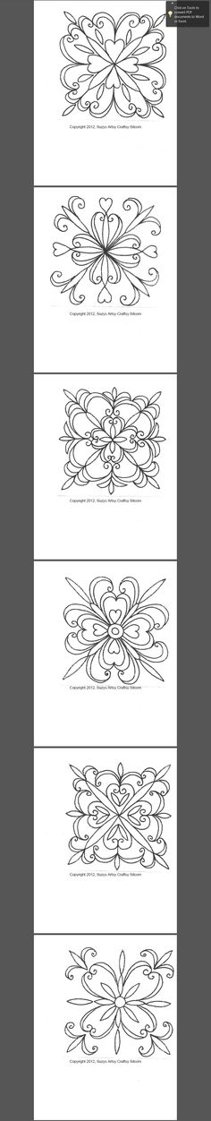 Here is an image of the Patterns for the Faux Tin Tiles in case the link gets lost.