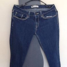 SKINNY&BLUE JEANS?? THESE JEANS NEED THE DOCTOR!! These are a pair of blue jeans with yellow lining they are skinny. Levi's Jeans Skinny