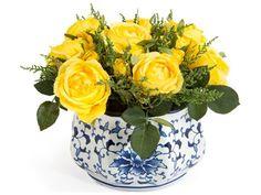 John Richard Traditional Lemon Drops Decorative Floral Arrangement
