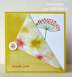 Summer silhouette April thank you's using Stampin' Up! supplies. #stampinup