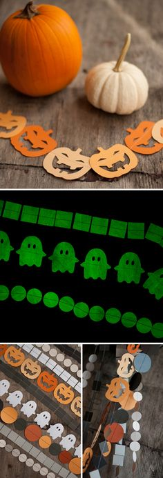 Glow in the Dark Halloween Garlands. Cheap and Easy DIY!  |  Design Mom