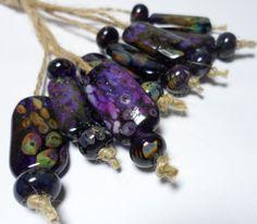 Lampwork.Glass Bead handmade.Organics 8. by Glasskaramelka on Etsy, $40.00