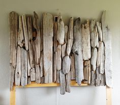 The Most Captivating Manifestations Of Driftwood Furniture That Will Win Your Heart - DIY Aspects Driftwood Headboard, Driftwood Furniture, Home Decor Furniture, Furniture Design, Driftwood Ideas, Wooden Decor, Wooden Diy, Diy Wood Projects, Wood Crafts