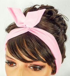 Dolly Bow Wire Headband Pin Up Hair Accessories Baby by JuicyBows