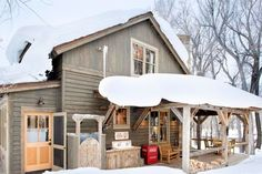SEASONAL – WINTER – a cabin in the mountains appears so peaceful, especially with the rustic porch by coburn development.