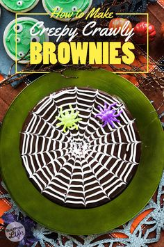 Here's How To Use A Toothpick To Make Your Brownies Look Like A Spiderweb