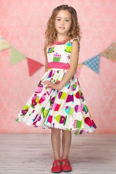 Cupcakes Evelyn Dress (Baby, Toddler, & Big Girls)