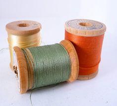 Thread came on wood spools