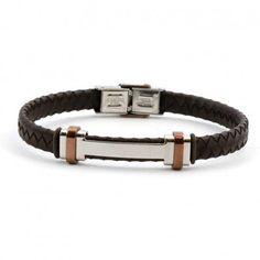 827d2d4ab827 Pulseras hombre · Elegante  pulsera de  cuero trenzado marrón de la marca   Viceroy  Fashion en