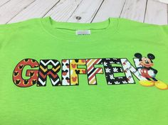 Mickey name shirt  Disney family shirts  by HeritageKidDesigns