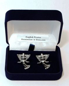 Angel Cufflinks in Fine English Pewter Handmade by PaulSimmons