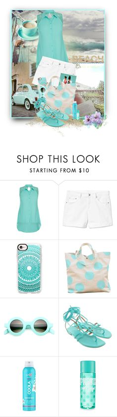 """Vacation Time"" by loveroses123 ❤ liked on Polyvore featuring City Chic, Ultimate, Gap, Casetify, Hermès and COOLA Suncare"
