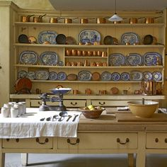 The kitchen at Uppark. Uppark is a 17th-century house in South Harting, Petersfield, West Sussex, England and a National Trust property.