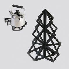 Treepot 3D trivet - Black from be&liv