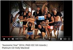 2016 on the PADI Scuba Diving Instructor Development Course (IDC) with Multi Award Winning Triple Platinum PADI Course Director Holly Macleod was amazing and we saw some fantastic professional divers become PADI Scuba Diving Instructors in the Gili Islands, Indonesia #padiidcIndonesia https://www.youtube.com/watch?v=Kjjk6H56b8s