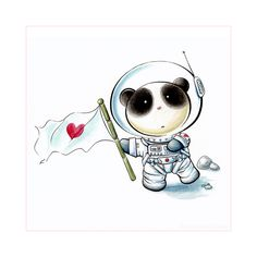 Panda Space Tiem by `snowmask on deviantART  *mos