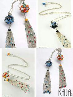 Necklaces by Karolína Emingrová Bead Weaving, Beaded Jewelry, Beading, Necklaces, Drop Earrings, Stud Earrings, Beads, Beading Jewelry, Chain