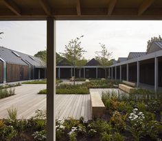 Image 1 of 35 from gallery of Vajrasana Buddhist Retreat  / Walters & Cohen Architects. Photograph by Dennis Gilbert