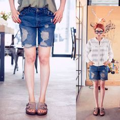 Qnigirls New Womens Game Over Destroyed Denim Shorts Cute Lovely Style #Qnigirls #Denim