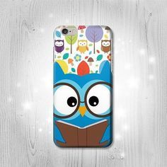 Cute Nerd Owl Cartoon iPhone 6 6 Plus 5 5S 5C 4 4S Htc One M8 M7 X Samsung Galaxy S6 S6 Edge+ S5 S4 S3 mini Note 5 4 3 2 Case
