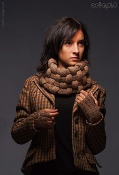 Woven Cowl in Camel -inspiration only