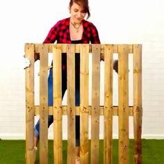 Pallet Garden Furniture, House Furniture Design, Home Room Design, Diy Furniture Videos, Pallet Wall Decor, Green House Design, Pallet Ideas Easy, Diy Crafts For Home Decor, Diy Patio