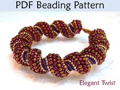 LIKE THE COLORS BUT NOT PAYING $9 FOR WHAT I CAN GET FOR FREE PDF Jewelry Pattern, Cellini Spiral, Tubular Peyote, Beaded Bracelet Patterns, Bracelets, Beading Tutorials, Instructions, Beading Projects