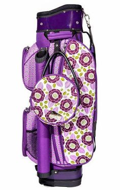 Sassy Caddy Maui Ladies Golf Bag. The Tech Women's Cart Bags by Sassy Caddy have 14 full length dividers & an integrated putter well. Light-weight: weighing only 7 pounds. Shoulder strap is located at