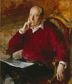 Henry Herbert (1924-2001), 7º conde de Carnarvon, retratado por Valeriy Gridnev (700×825)