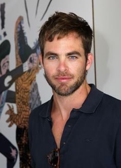 The Chris Pine Network Chris at the LACOSTE L!VE Desert Pool Party event
