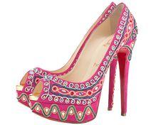 Christian Louboutin Bollywoody Heels <3 <3 via blogspot.com