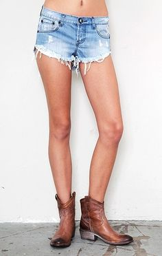 One Teaspoon Bonitas Shorts in Blue