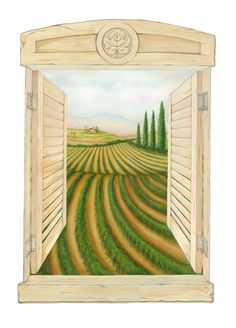 Wall Dressed Up - Tuscan Window (Transfer Mural)