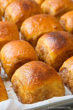 Drool! 4-Ingredient Cinnamon Toast Buns | ASpicyPerspective.com
