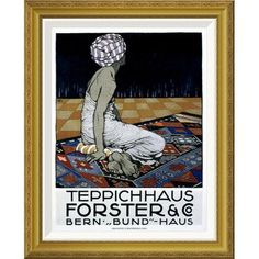 Global Gallery 'Teppichhaus Forster & Co' by Burkhard Mangold Framed Wall Art Size: