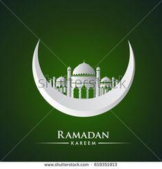 Ramadan greetings background, Elegant element for design template, place for text greeting card for Ramadan kareem
