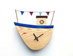 Fishing Boat No.1   Clock or Wallhanging by FionaGrayDesigns, £35.00