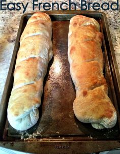 How to make Easy French Bread- never thought it was so easy- dont need anything special!