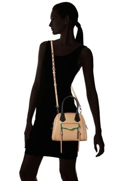 Amazon.com: Rebecca Minkoff Harley Mini H490E002 Shoulder Bag,Natural,One Size: Clothing