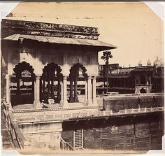 """Murray took up photography while serving in Agra as a medical doctor for the East India Company, and in 1857 published an extensive survey of the city. Unwilling to allow the technical limitations of his medium to prevent achieving the pictures he envisioned, Murray """"corrected"""" his negatives by hand, adjusting the truth of the camera to fit the truth of observation and memory"""