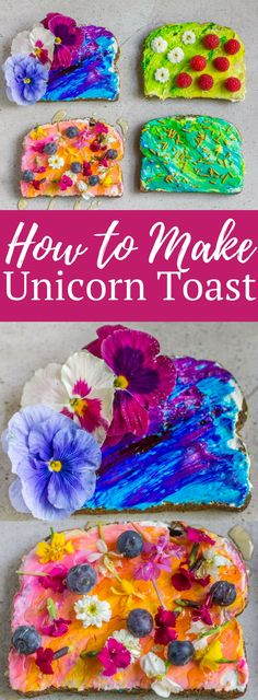 How to Make Unicorn Toast - Away From the Box
