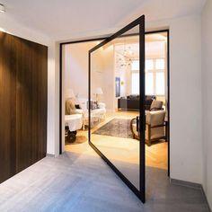 "14.1 mil curtidas, 74 comentários - Interior Design (@design_interior_homes) no Instagram: ""Pivoting Door by Anyway Doors  #luxury #luxuryhome #arquitetura #house #home #beautiful #homedecor…"""
