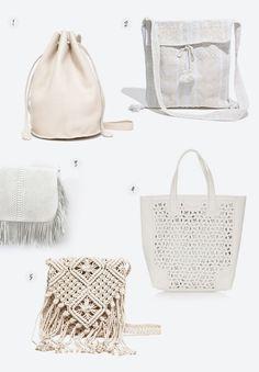 5 white bags for summer
