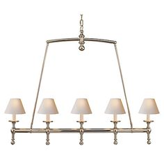 Linear Chandelier, Polished Nickel $785.00