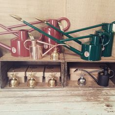 """""""Our Haws watering can and sprayer collection.  #perennialle #perennialleplants #Canowindra #morethanyouexpect #Canowindramorethanyouexpect…"""""""