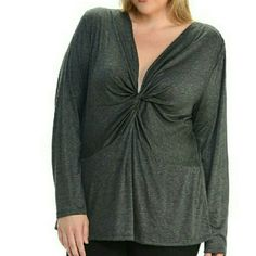 """""""Simple Knot Top"""" in grey Cute grey tip with twist knot front, long sleeves,straight back. *97% rayon *3%spandex , NWT , very comfy top, plenty of stretch.  See Chart for Your Sizes  . Bellino Clothing Tops Tees - Long Sleeve"""