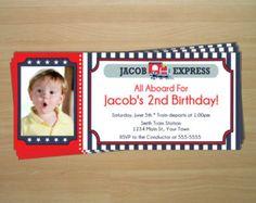Train Ticket Birthday Invitations - Digital File (Printing Available)